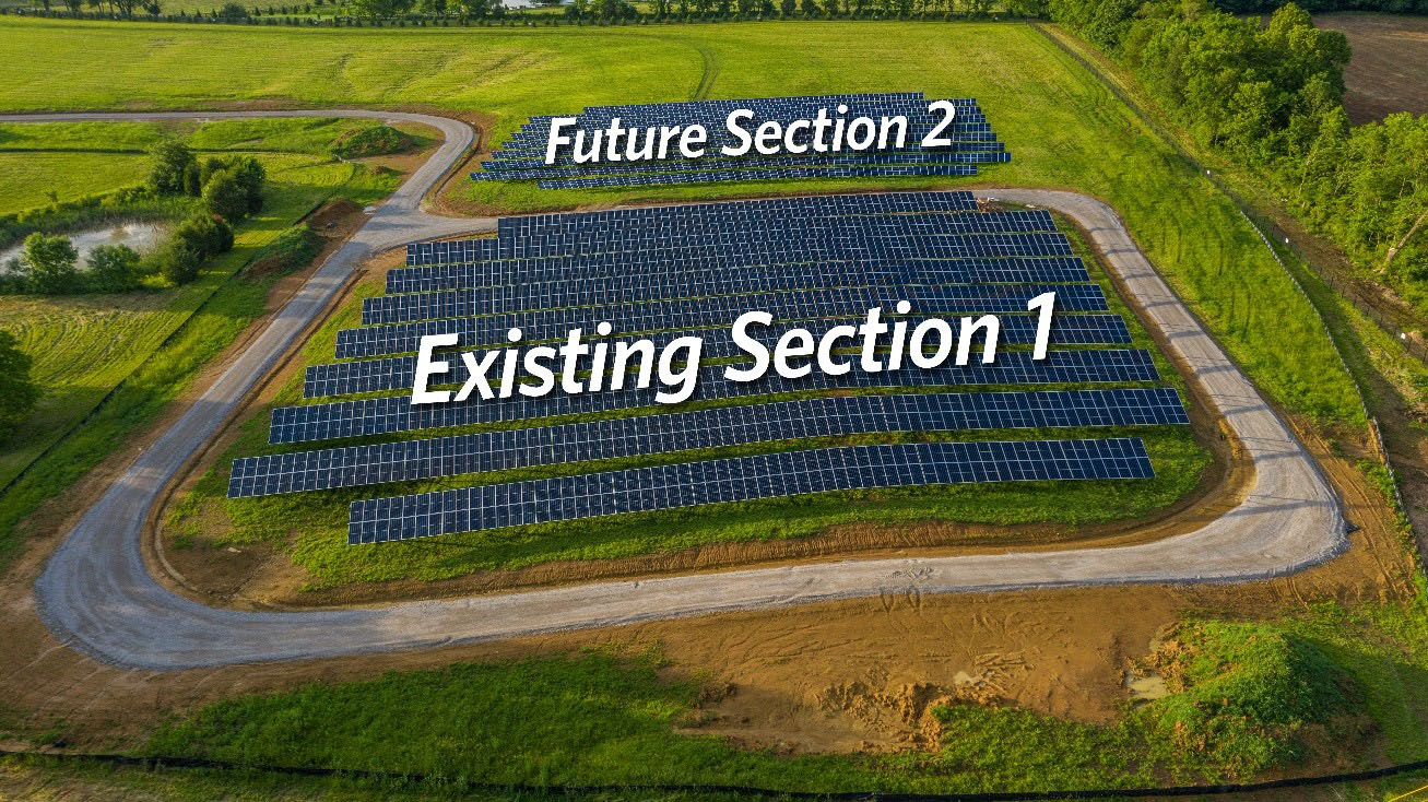 Solar share rendering of second section installment