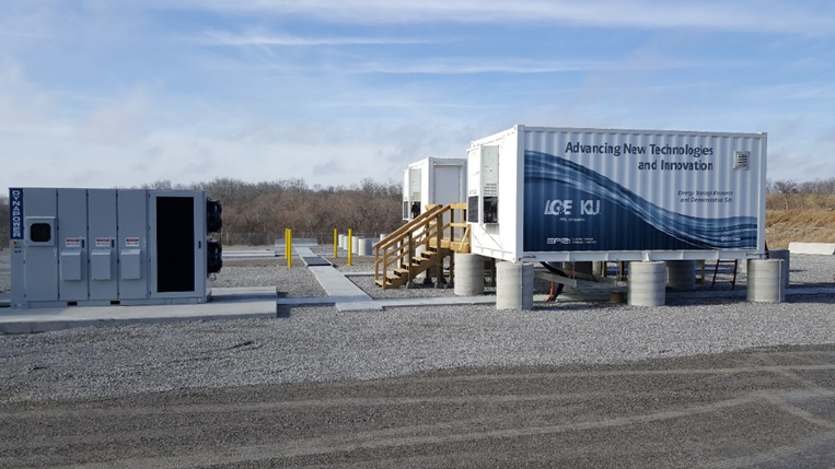 photo of battery storage units
