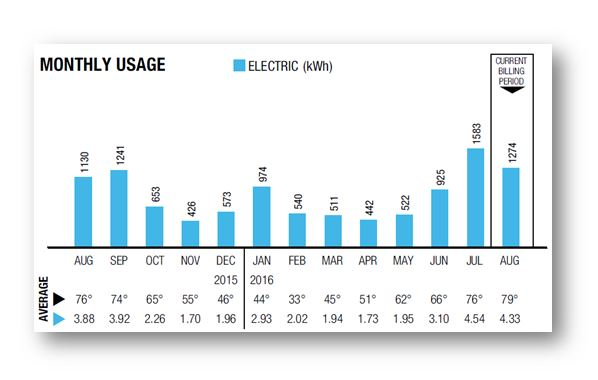 Electric usage chart
