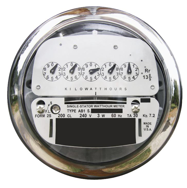 Electric Meter Number : Power reading it s electric lg e and ku