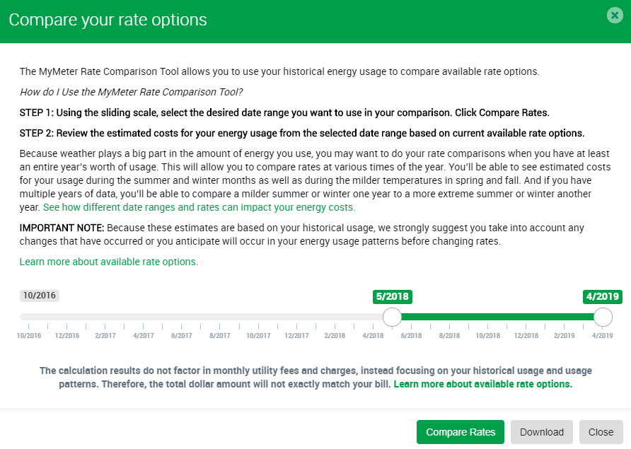 Compare you rate options