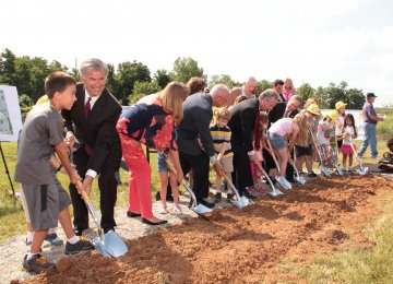 Library ground breaking