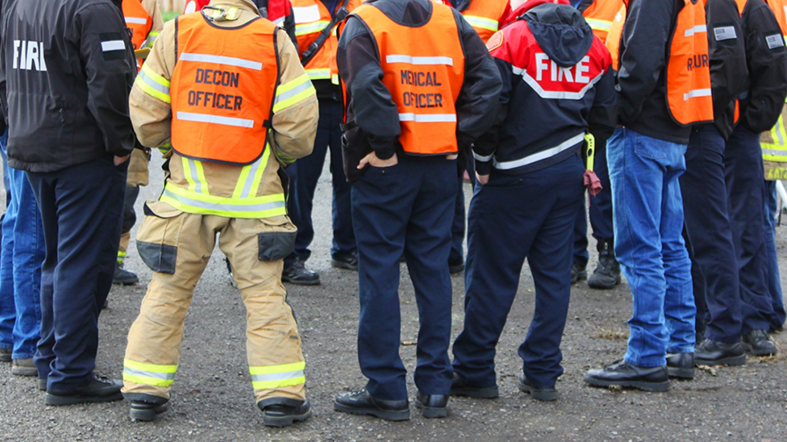 a group of emergency responders at a briefing