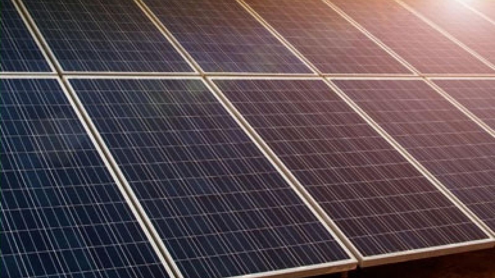solar panels at a solar generation facility