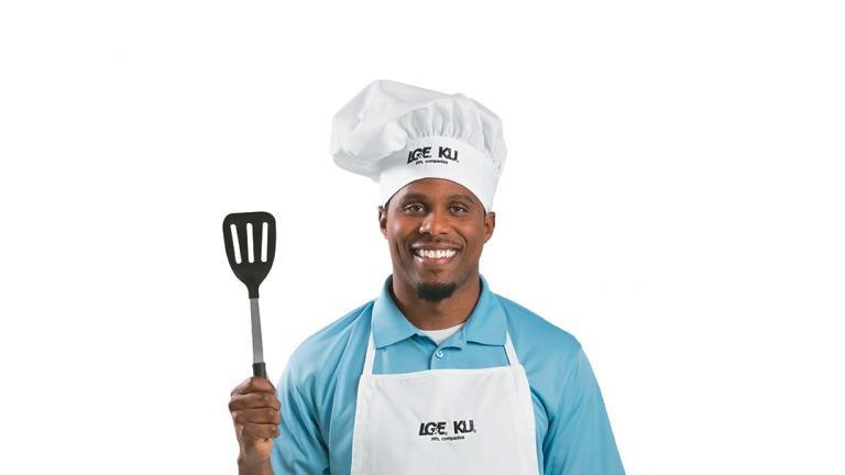 Man holding spatula
