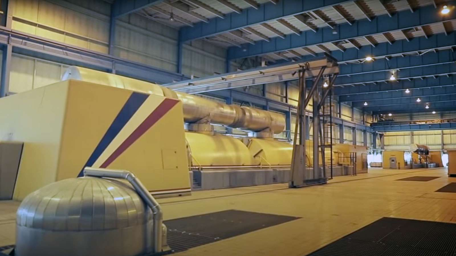 interior photo of a generator at Ghent Station