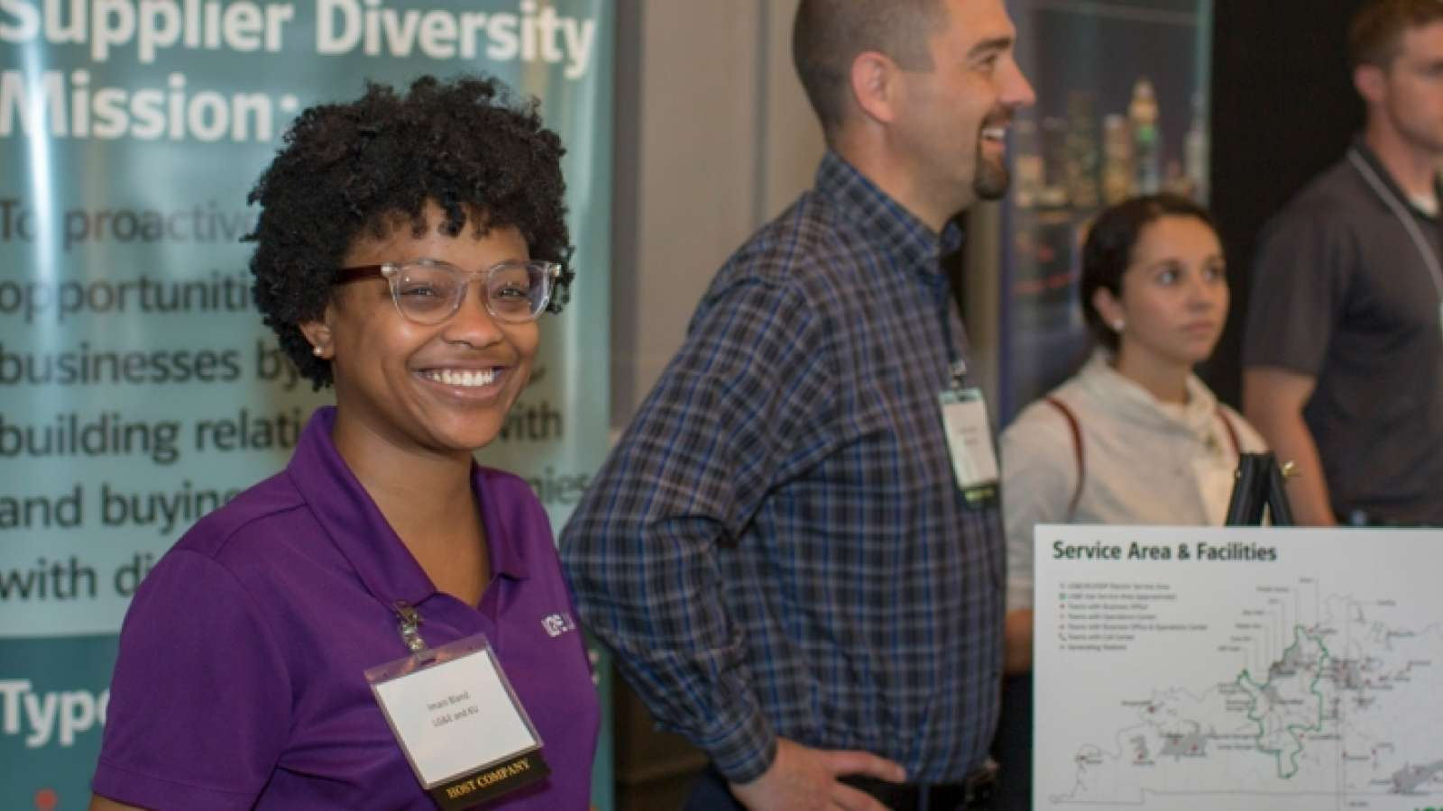 employees at a supplier diversity event