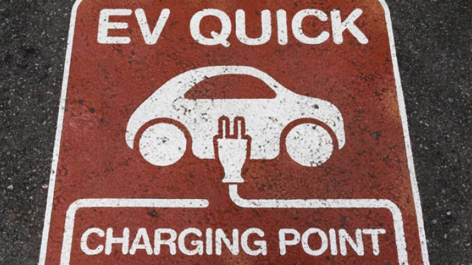 EV quick charging point parking spot
