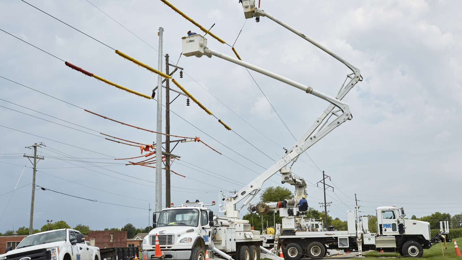 Transmission pole replacement
