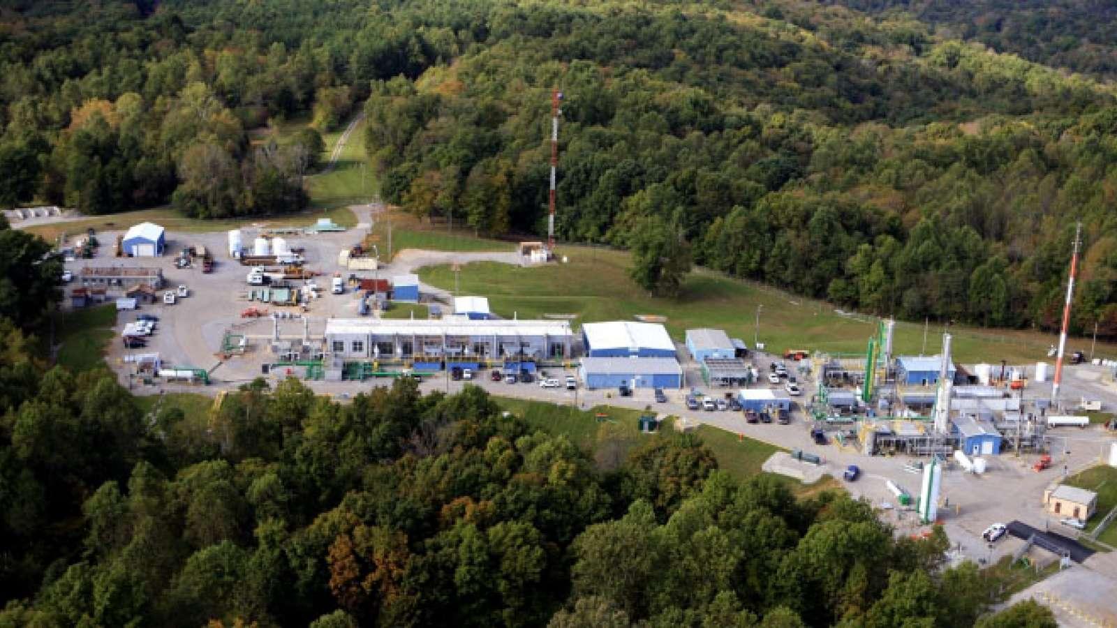 Aerial view of Muldraugh Compressor Station