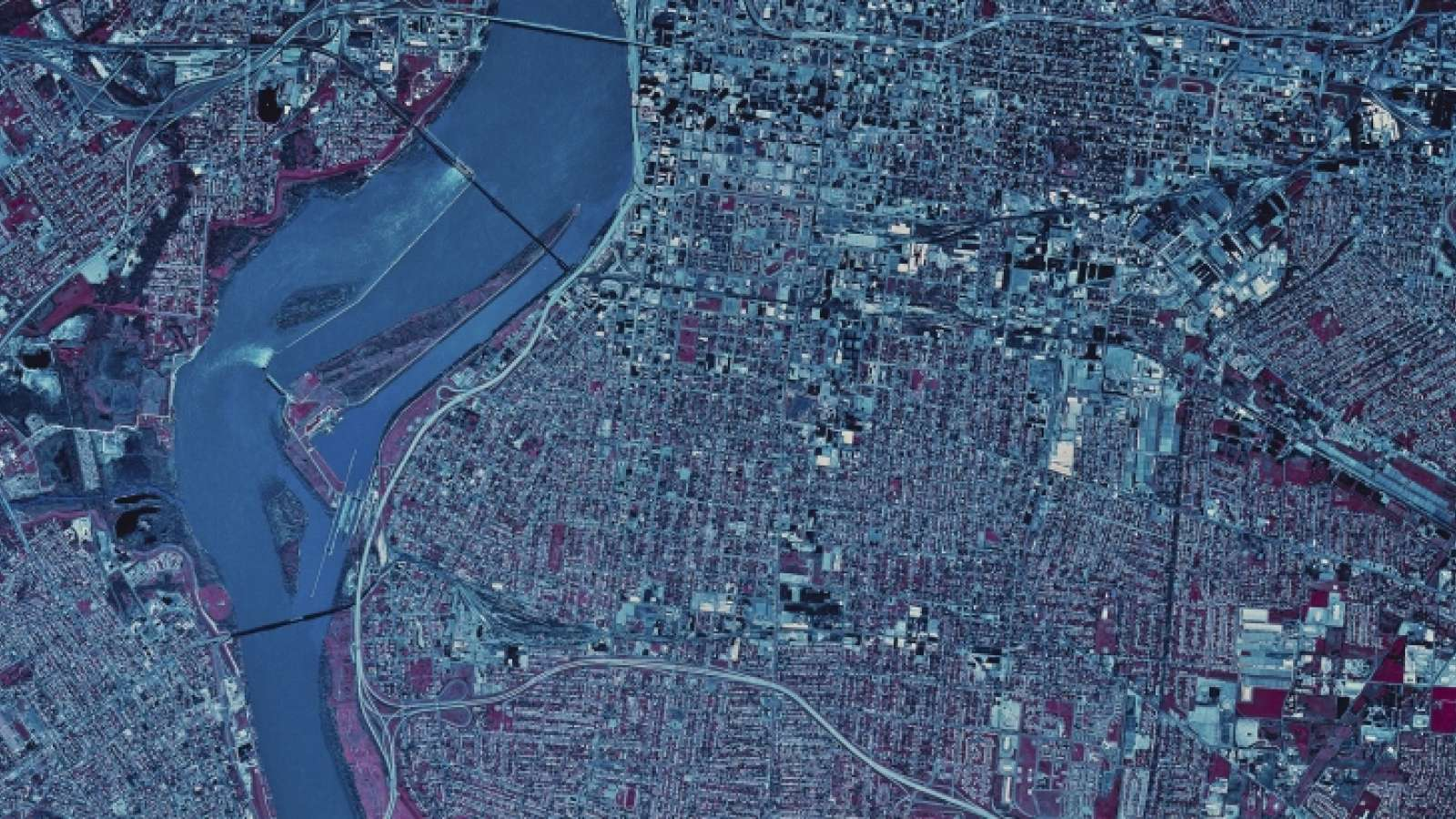 Satellite Photo of Louisville, Kentucky