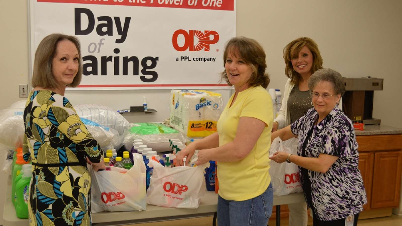 ODP employees volunteering for the Day of Caring event