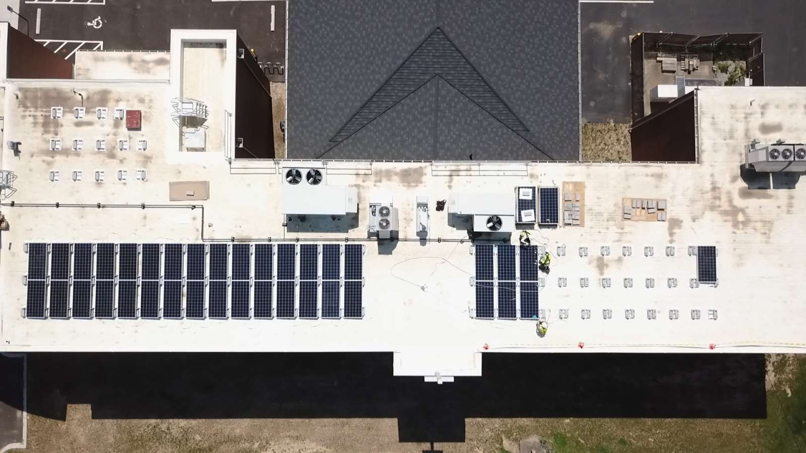 aerial view of Archdiocese of Louisville solar installation