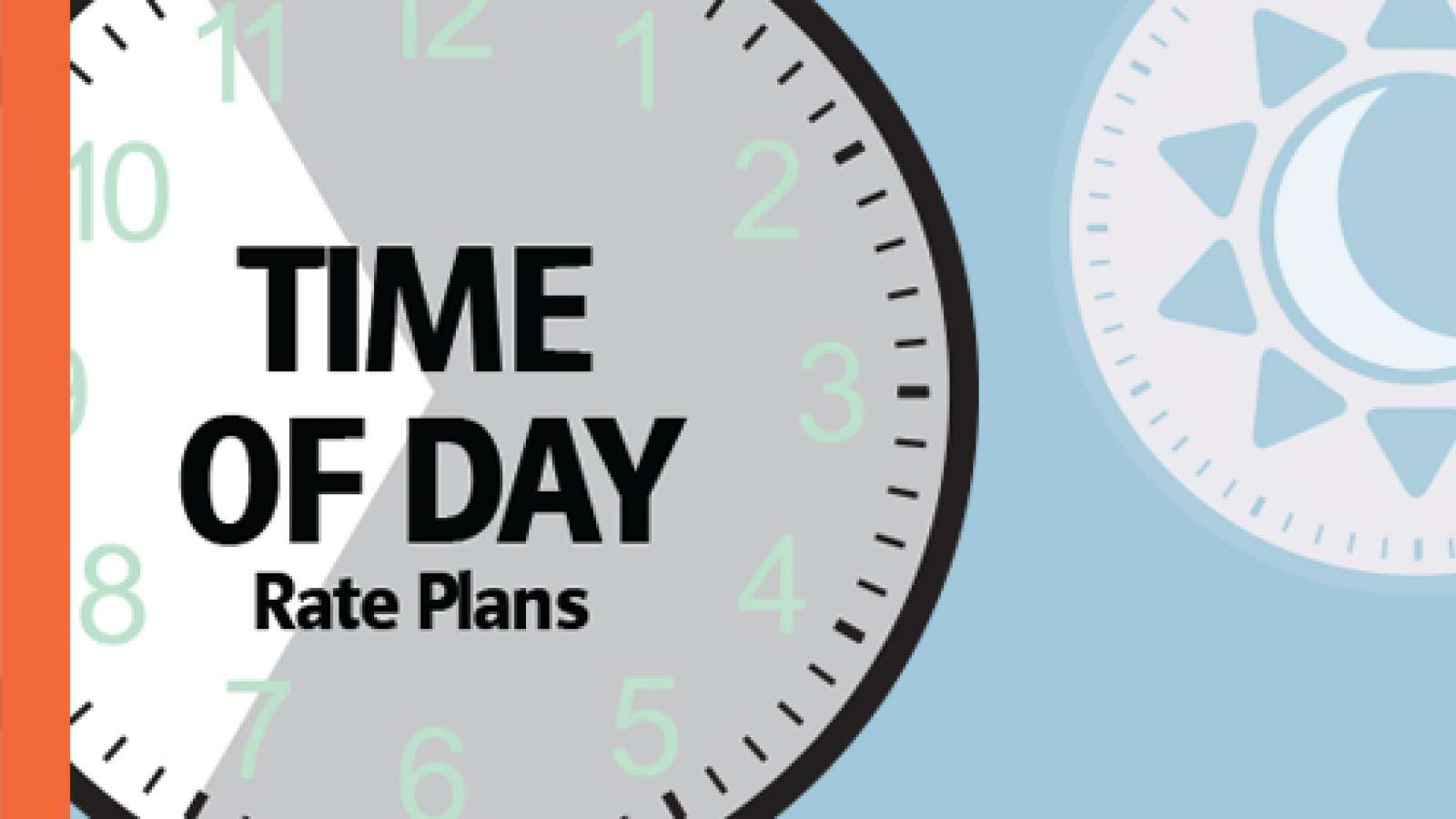 Time of day rate plans graphic clock and icons