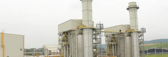 The natural gas combined-cycle unit at the Cane Run Generating Station