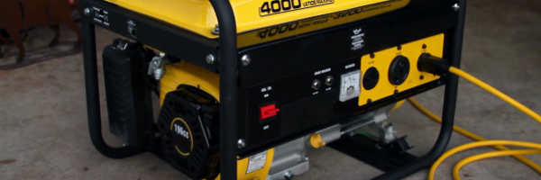 image of a yellow and black generator