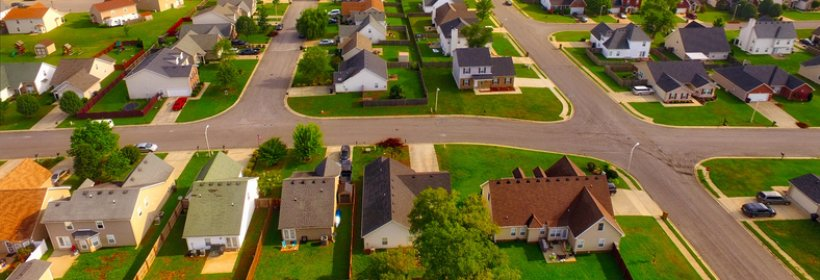 Small town aerial