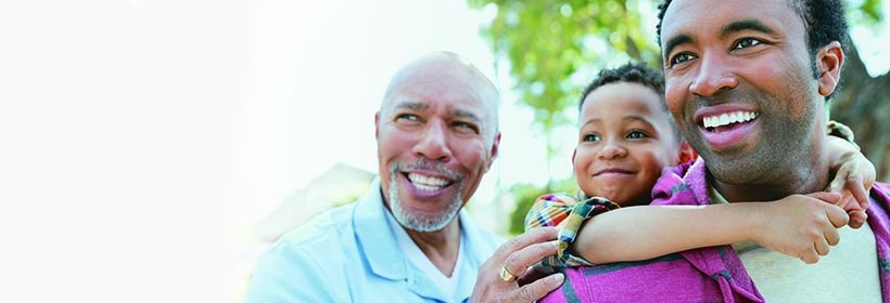 African-American father, son and grandfather